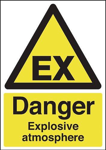 210x148mm Danger Explosive Atmosphere - Self Adhesive