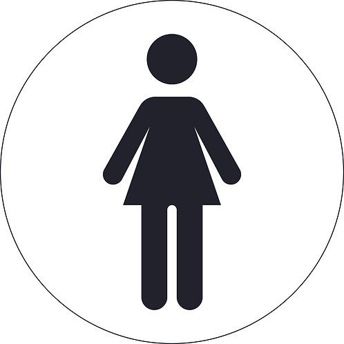 125mm Dia Female (symbol only) - Economy washroom sign