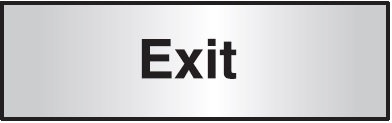 102x305mm Exit Architectural Door Sign Centre Aligned
