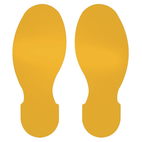 """10"""" X 3.5"""" Yellow Footprint Pack of 10"""