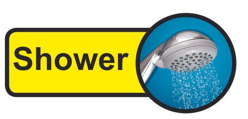 210x480mm Shower Dementia Sign