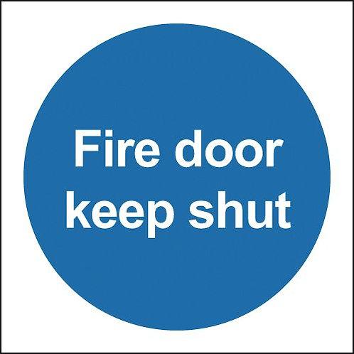 100x100 Fire Door Keep Shut - Self Adhesive