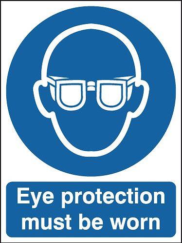 210x148mm Eye Protection Must Be Worn - Rigid