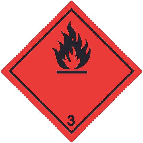 100x100mm Flammable Symbol Hazard Warning Diamond Roll of 310