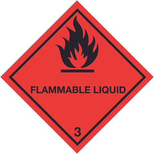 100x100mm Flammable Liquid Self Adhesive Hazard Warning Diamonds