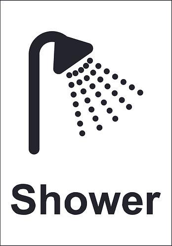 200 x 140mm Shower - Economy washroom sign