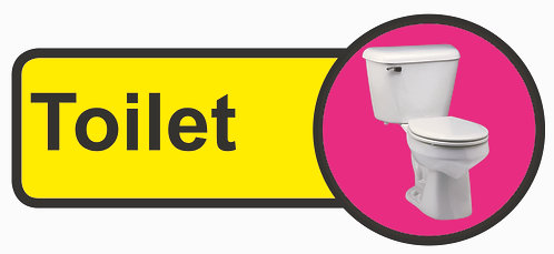 210x480mm Toilet Dementia Sign