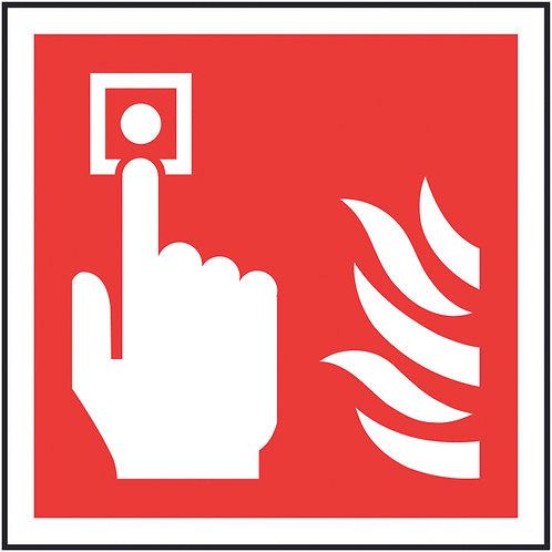 100x100mm Fire Alarm Call Point Symbol Only - Rigid
