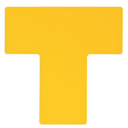 """2"""" X 5"""" Yellow Floor Ts Pack of 20"""