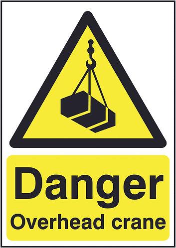 210x148mm Danger Overhead Crane - Rigid