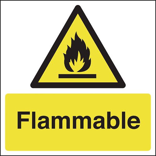 150x150mm Flammable - Rigid