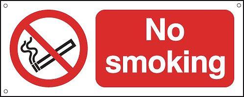 100x250mm No Smoking - Aluminium