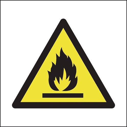 150x150mm Flammable Symbol - Rigid
