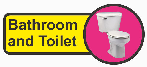 210x480mm Bathroom & Toilet Dementia Sign