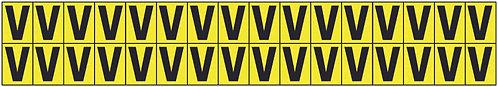 19x14mm Vinyl Cloth Letters Card V