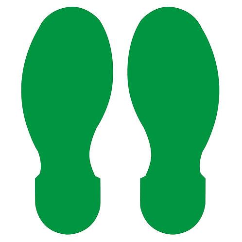 "10"" X 3.5"" Green Footprint Pack of 10"