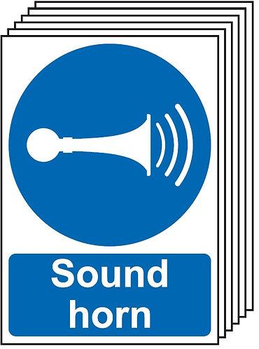 210x148mm Sound Horn - Rigid Pk of 6