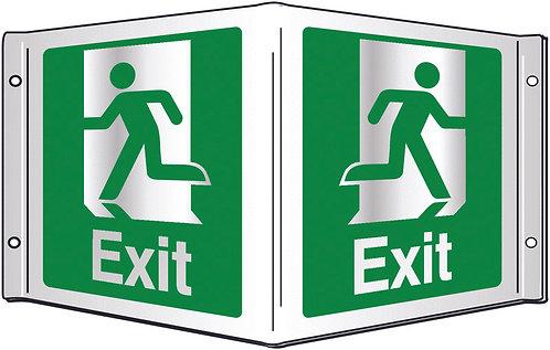 200x400mm Exit Projecting 3D Sign