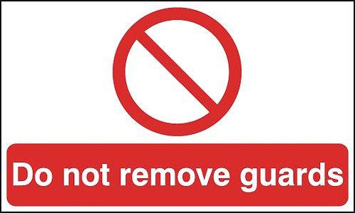 150x300mm Do not remove guards - Rigid