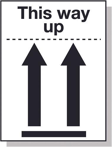 100x75mm This way up Pictoral Marking Labels
