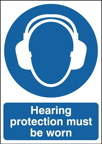 210x148mm Hearing Protection Must Be Worn - Rigid