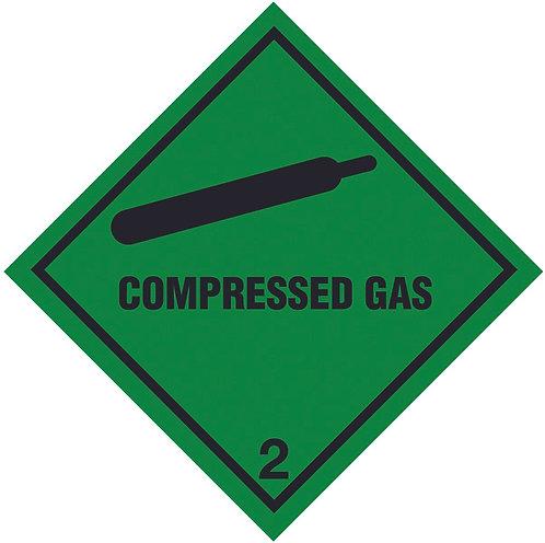 100x100mm Compressed Gas Self Adhesive Hazard Warning Diamonds