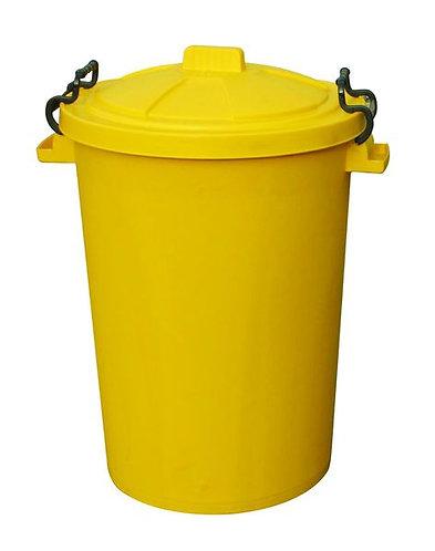 110 Litre Clip Lid Bin - Yellow