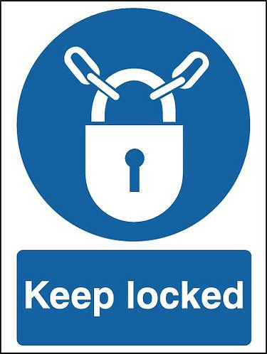 100x75mm Keep Locked - Rigid