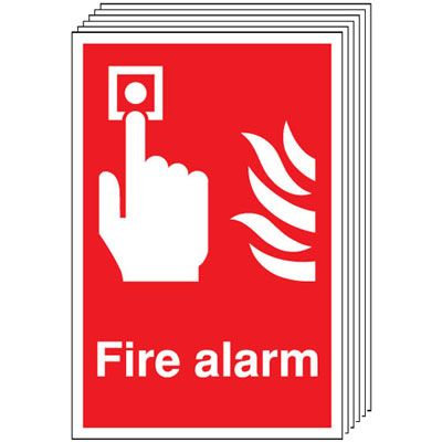 210x148mm Fire Alarm - Rigid Pk of 6