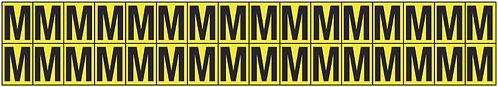 19x14mm Vinyl Cloth Letters Card M