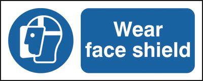 100x250mm Wear Face Shield - Rigid