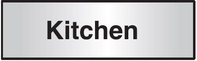 102x305mm Kitchen Architectural Door Sign Centre Aligned