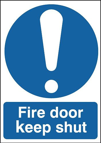 100x75mm Fire Door Keep Shut - Self Adhesive