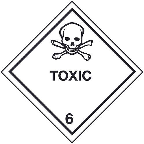 100x100mm Toxic Hazard Warning Diamond Roll of 310