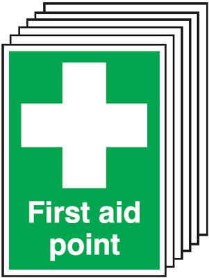 210x148mm First Aid Point - Rigid Pk of 6