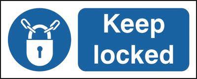 100x250mm Keep Locked - Rigid