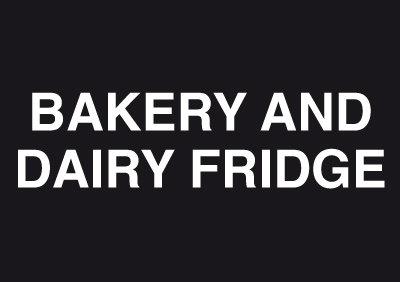 148x210mm Bakery and Dairy Fridge - Rigid