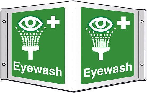 200x400mm Eyewash Projecting 3D Sign