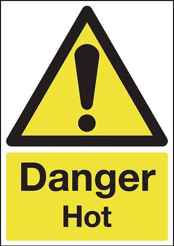 210x148mm Danger Hot - Self Adhesive
