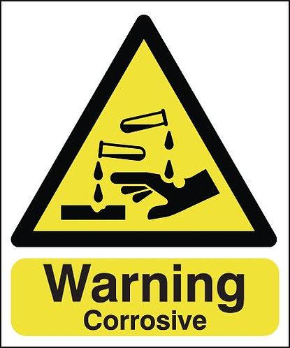 210x148mm Warning Corrosive - Rigid