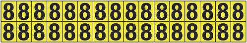 19x14mm Vinyl Cloth Numbers Card 8