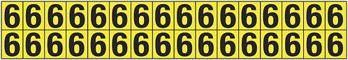 19x14mm Vinyl Cloth Numbers Card 6