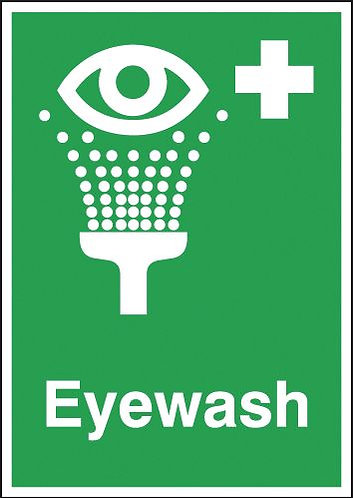 210x148mm Eyewash - Rigid