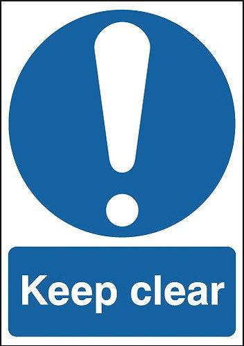 210x148mm Keep Clear - Self Adhesive