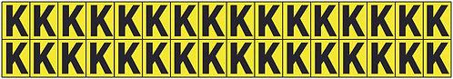 19x14mm Vinyl Cloth Letters Card K