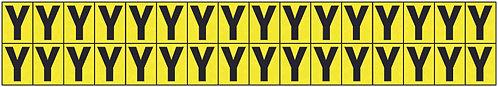 19x14mm Vinyl Cloth Letters Card Y