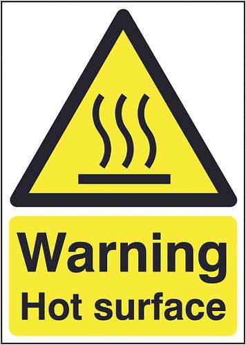 210x148mm Warning Hot Surface - Rigid