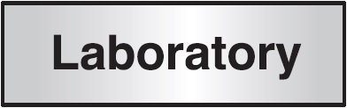 102x305mm Laboratory Architectural Door Sign Centre Aligned