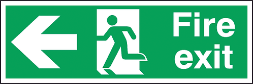 150x450mm Fire exit left sign - Double sided