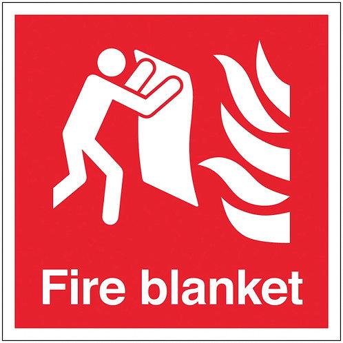 200x200mm Fire Blanket - Self Adhesive